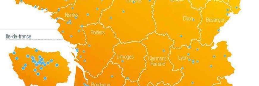 Le carte de France L'Orange Bleue